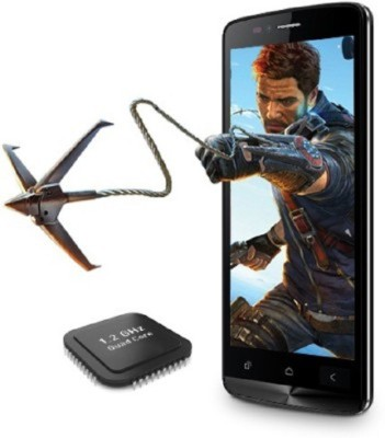 Zen zen ultrafone powermax 1 8gb with flip cover and selfie stick (black, 8 GB)