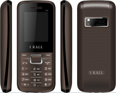 I KALL K-88 Dual SIM Mobile (Black & Brown)
