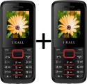 IBall K-88 Set Of 2 Dual SIM Mobiles (Black & Red)