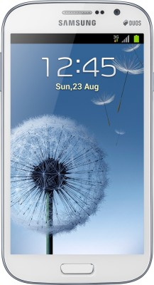 Samsung Galaxy Grand Duos I9082 Elegant White, with 2 Flip Covers Color: White and Blue