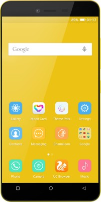 Gionee P5L (Yellow, 16 GB)