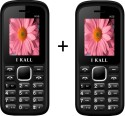I KALL 1.8 Inch Dual Sim SET OF TWO Mobile(K55WHITE&BLACK+K55WHITE&BLACK) With Bluetooth (Black, White)