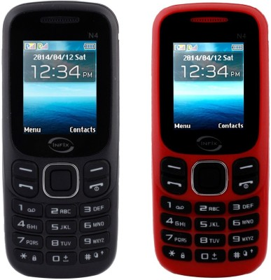 Infix Set of 2 Multimedia Dual Sim with Facebook (Black, Red)