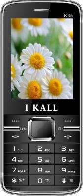 I KALL K35 dual sim mobile with torch light Black