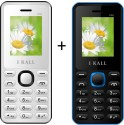 I KALL 1.8 Inch Dual Sim Multimedia Set Of Two Mobile(K-66WHITE+K66BLUE) With Bluetoot (White, Blue)