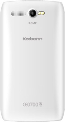 Karbonn A1 Plus Champ Alfa Dual Sim - Black & Silver (White, Silver, 512 MB)