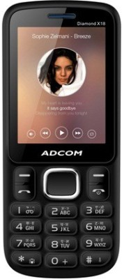 Adcom X18 (DIAMOND) Dual Sim Mobile (Black, Blue)