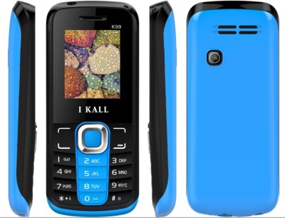 I KALL K 99 Dual Sim Feature phone with torch light & bluetooth blue