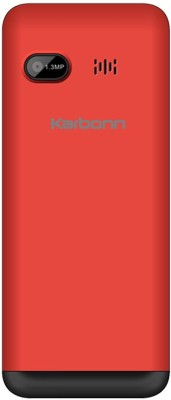 Karbonn K Phone 9 Dual Sim - Black & Red (Black)