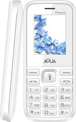 Aqua Phoenix - Dual SIM Basic Mobile Phone (White)