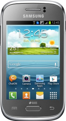 Samsung Galaxy Young S6312 Metallic Silver available at Flipkart for Rs.6999
