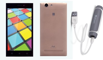 iBall Sprinter 4G with Free Power Bank (Special Gold, 8 GB)