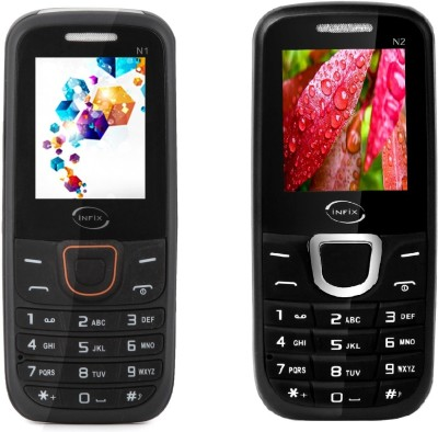 Infix Curve Set of 2 Multimedia Dual Sim with Facebook (Black)