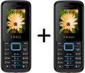 IBall K-88 Set Of 2 Dual SIM Mobiles (Black & Blue)
