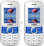 VOX 1.8 Inch Triple sim Multimedia set of two mobile with bluetooth V3100 white