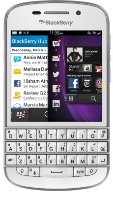 BlackBerry Q10 (White, 16 GB)