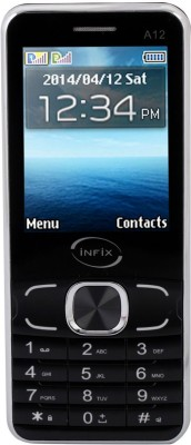 Infix A-12 Dual Sim Multimedia 2.4 Inches (Black)