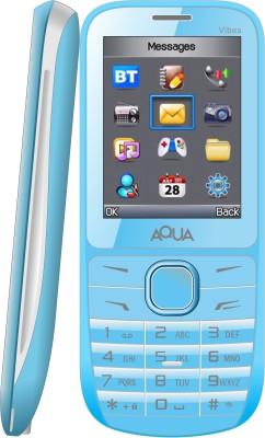 Aqua Vibes - Dual SIM Basic Mobile Phone (Blue)