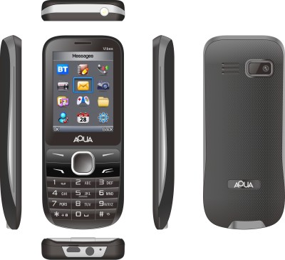 Aqua Vibes - Dual SIM Basic Mobile Phone (Black)