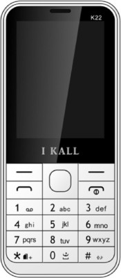 i KALL Dual Sim 2.4 Inch Feature Phone With Bluetooth- White