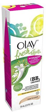 Olay Moisturizers and Creams Olay Fresh Effects BB Cream Skin Perfecting Tinted Moisturizer with Sunscreen, Fair to Light