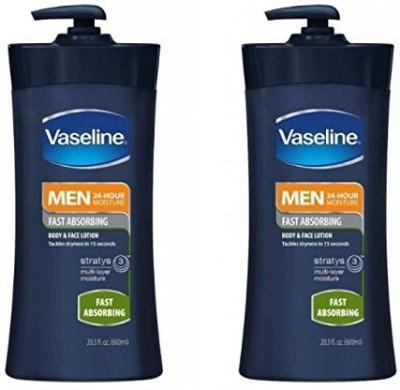 Vaseline Moisturizers and Creams Vaseline Men Body and Face Lotion , Bottle