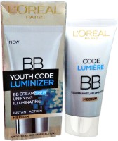 Loreal Paris Youth Code Luminizer Bb Cream Medium Spf 15 (50 Ml)