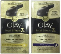 Olay Total Effect Day & Night Moisturiser (Made In Poland) Imported (Pack Of 2) (100 Ml)