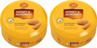 Joy Honey & Almonds Nourishing Skin Cream 800 Ml(Pack Of 2) (1600 Ml)