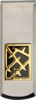 Inox Jewelry SSMC14132 Stainless Steel Money Clip (Jet Black)
