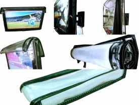 ADITYA Television accessories for 56 inch LCD TV - TRANSPARENT COVER WITH DUAL ZIPPER AND FREE REMOTE COVER