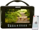 Victor 7 Inch LED - Portable Led Wide Screen Tv / Monitor Fm Mp3/ Mp4 Sd Reader Usb Play With Remote  Monitor (Black)