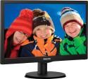 Philips 163V5LSB23 15.6 Inch LED Backlit LCD Monitor - Black