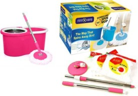A TO Z SALES Stainless Steel with Detergent Dispenser Pink Mop Set