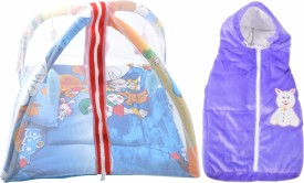 ROYAL SHRI OM BABY SLEEPING BED WITH MOSQUITO NET(PLAYGYM) AND BABYWRAPPER Mosquito Net