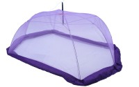Riddhi Riddhi Purple Baby Mosquito Protection Umbrella With Border Mosquito Net (PURPLE)