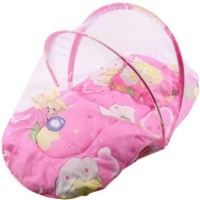 Chinmay Kids Pink Color Printed Cotton Padded Bed Net Mosquito Net (Multicolour)