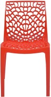 Supreme Web PP Moulded Chair (Finish Color - Red Set Of - 4)