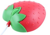 Shrih Strawberry Shaped Wired Optical Mouse (USB, Red)