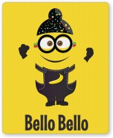 PosterGuy Bello Bello Despicable Me Inspired Minion Singh(Yellow) Funny Illustration Mousepad (Yellow)