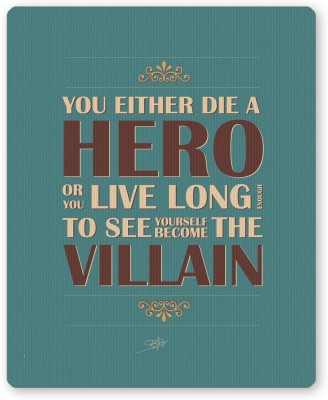 PosterGuy Die A Hero Quote The Dark Knight Trilogy Animated Comic Series Inspired Mousepad