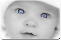 Shoperite Cute Baby Blue Eyes Mousepad (White)