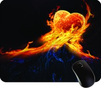 Printland Fired Heart Square MPS0009 Mousepad (Multicolor)