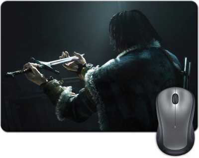 ShopMantra Sword in the Hands Graphic Gaming Mousepad