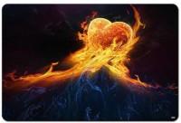 Shoperite Fire Heart Mousepad (Brown)