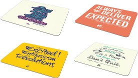 Thinkpot Stay excited! + The secret + Always deliver + When you get - Mousepad ( Set of 4) Mousepad