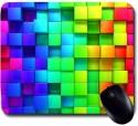 Awwsme Colorful Cubes Mousepad (Multicolour)