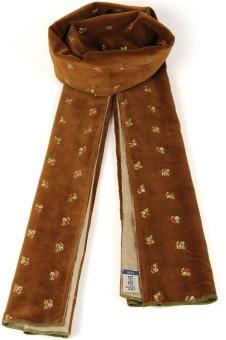 Goguava Golden Embroidered Velvet Stole For Men Solid Men's Muffler