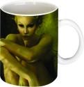 Printland Sitting Lady Mug - Multicolor, Pack Of 1