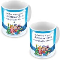 Home India Fancy Printed Cute Blue Coffee S Pair 612 Ceramic Mug (300 Ml, Pack Of 2)